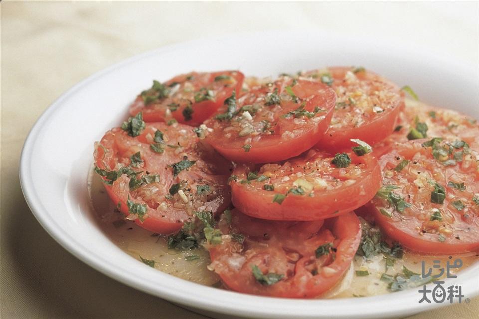 トマトのマリネ(トマト+「味の素」を使ったレシピ)