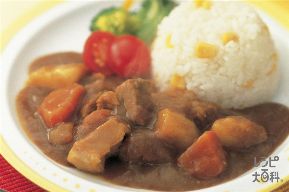 味わいカレー(玉ねぎのみじん切り+ご飯を使ったレシピ)