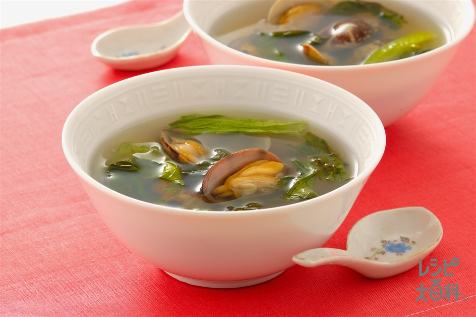 あさり&サニーレタスのスープ