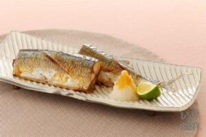 旬を味わう秋刀魚の塩焼き
