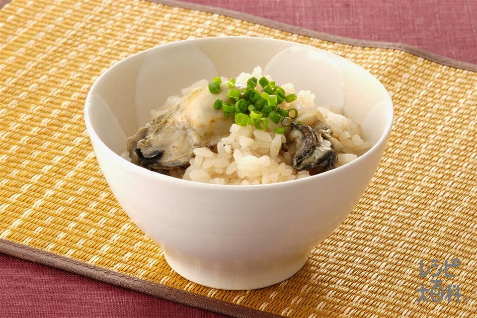 かきご飯(かき+米を使ったレシピ)