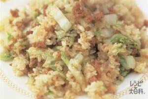 シャキシャキ白菜のガーリックチャーハン(白菜+ご飯を使ったレシピ)