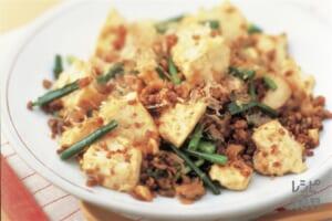 豆腐とひき肉の炒めもの