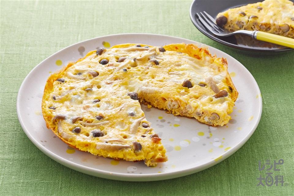 きのことツナのチーズオムレツ(しめじ+卵を使ったレシピ)