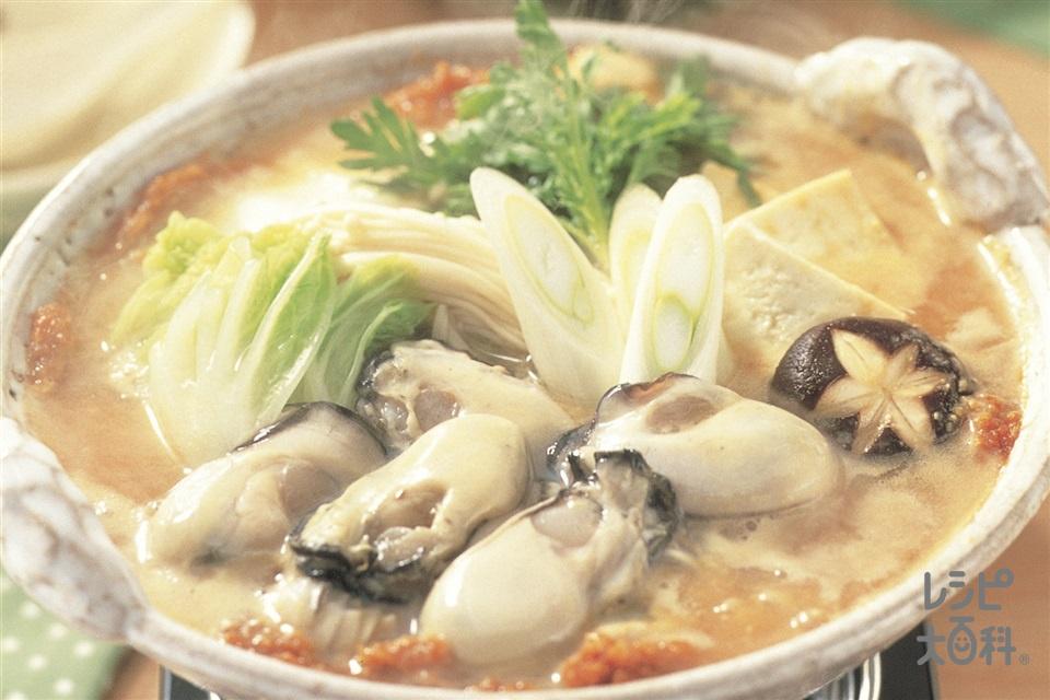 かきの土手鍋(かき(むき身)+白菜を使ったレシピ)