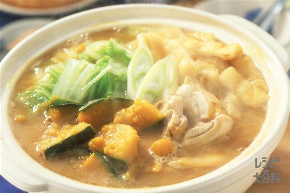 鶏かぼちゃ鍋(かぼちゃ+白菜を使ったレシピ)