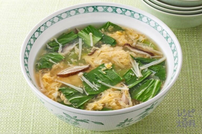 かき卵きのこスープ