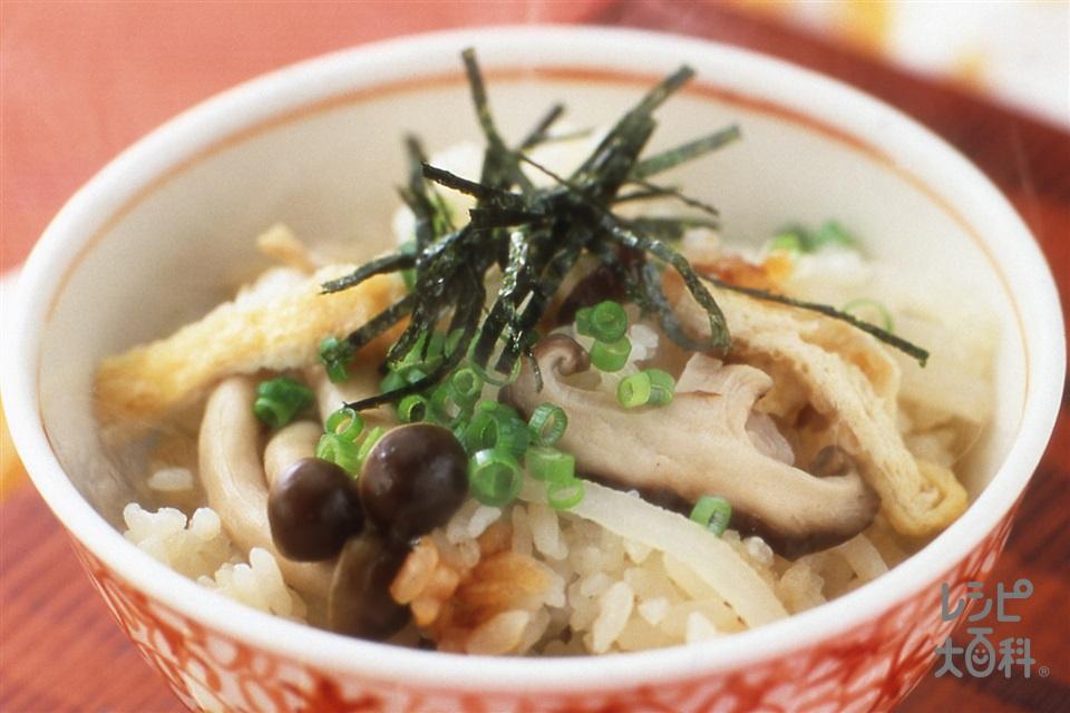きのこと大根の炊き込みご飯(米+しめじを使ったレシピ)