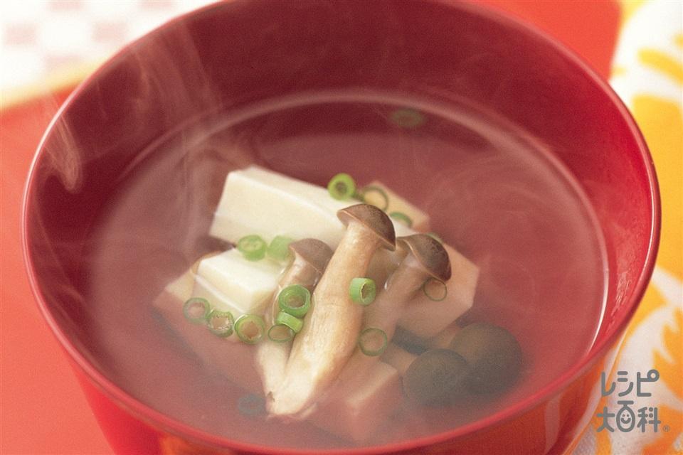 きのこと豆腐のお吸いもの(しめじ+絹ごし豆腐を使ったレシピ)