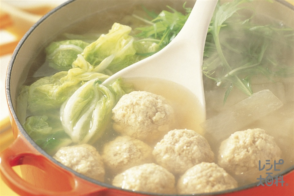 ふんわり肉だんご鍋(木綿豆腐+大根を使ったレシピ)