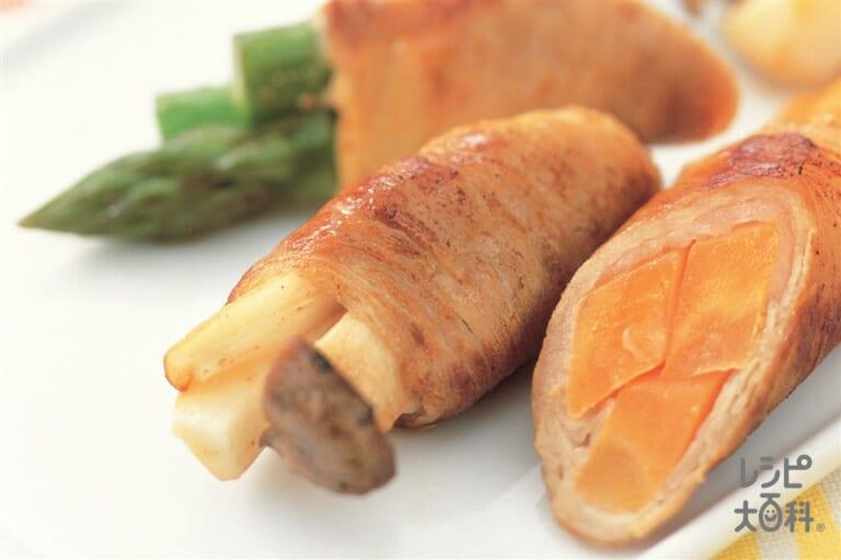彩り野菜の肉巻き
