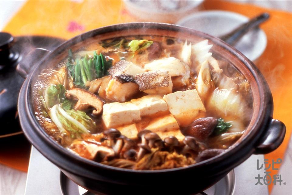 たらチゲ(白菜+木綿豆腐を使ったレシピ)