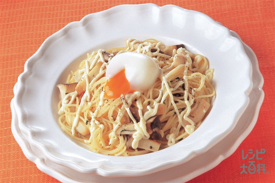 エリンギのカルボナーラ風(スパゲッティ+エリンギを使ったレシピ)