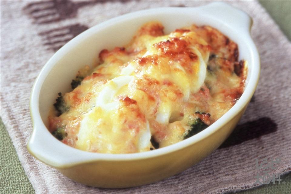 ブロッコリーと卵のマヨグラタン(ブロッコリー+ゆで卵を使ったレシピ)