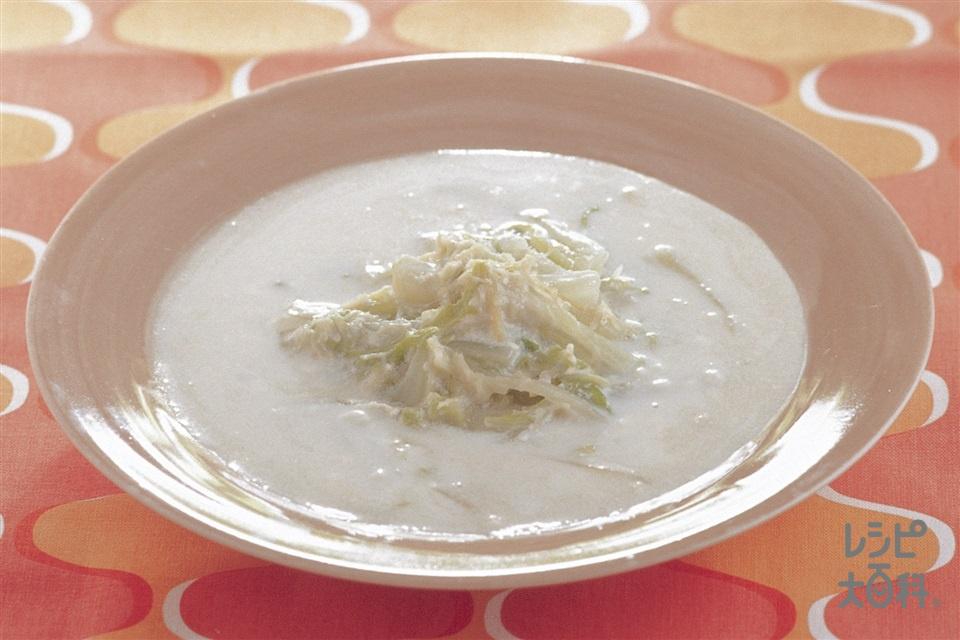 白菜と帆立缶のクリーム煮(白菜+帆立貝柱の水煮缶を使ったレシピ)