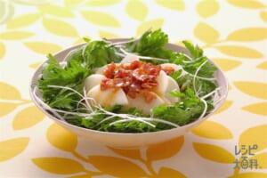 春菊と長いものサラダ