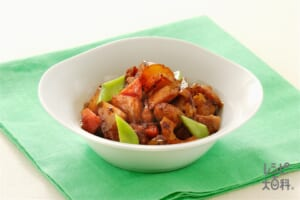 根菜と鶏肉の豆チ煮