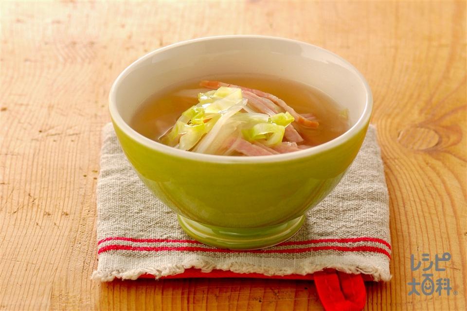 キャベツスープ(キャベツ+玉ねぎを使ったレシピ)