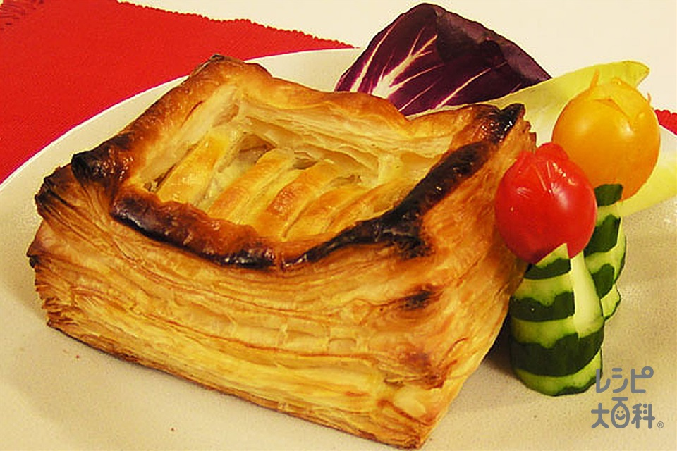 キノコのパイ包み(生クリーム+ミックスチーズを使ったレシピ)