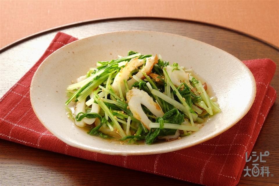 水菜とちくわのサッと煮