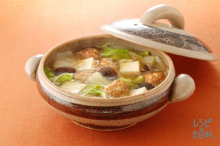肉だんごと白菜の中華風煮込み鍋