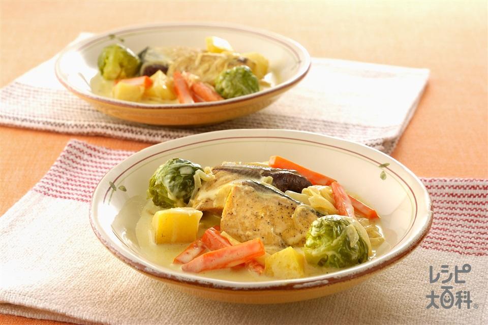 ぶりのカレークリームシチュー(ぶり+A「味の素」を使ったレシピ)