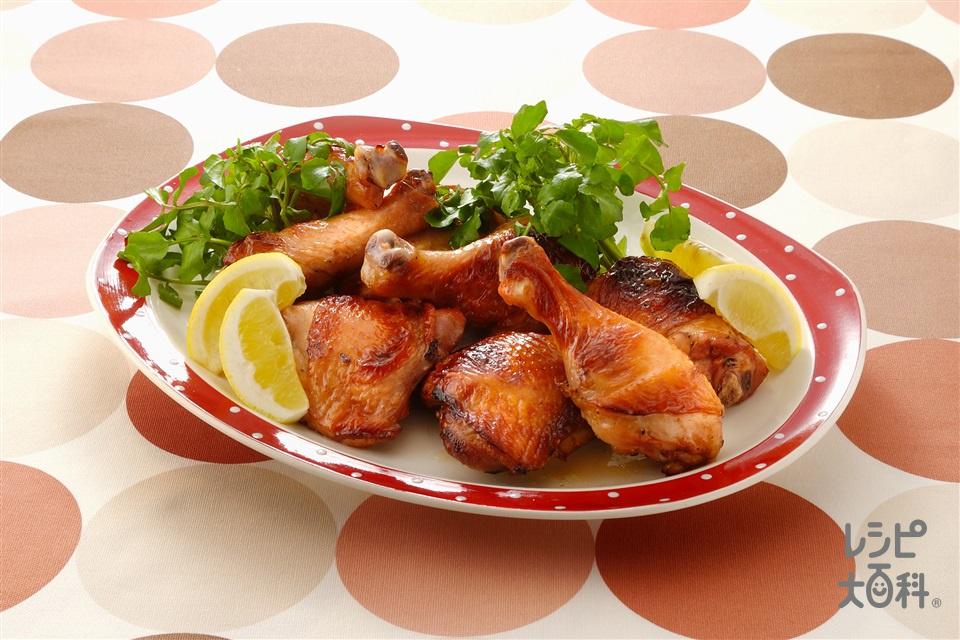 鶏のレモングリル(鶏骨つきもも肉+レモンを使ったレシピ)