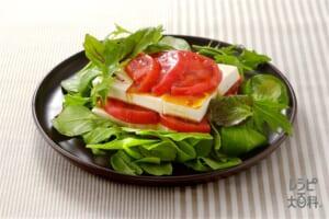 豆腐とトマトのイタリアンサラダ