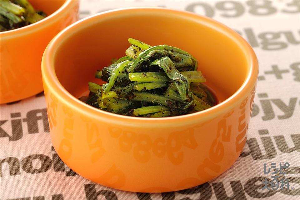 小松菜のごまよごし(小松菜+すり黒ごまを使ったレシピ)