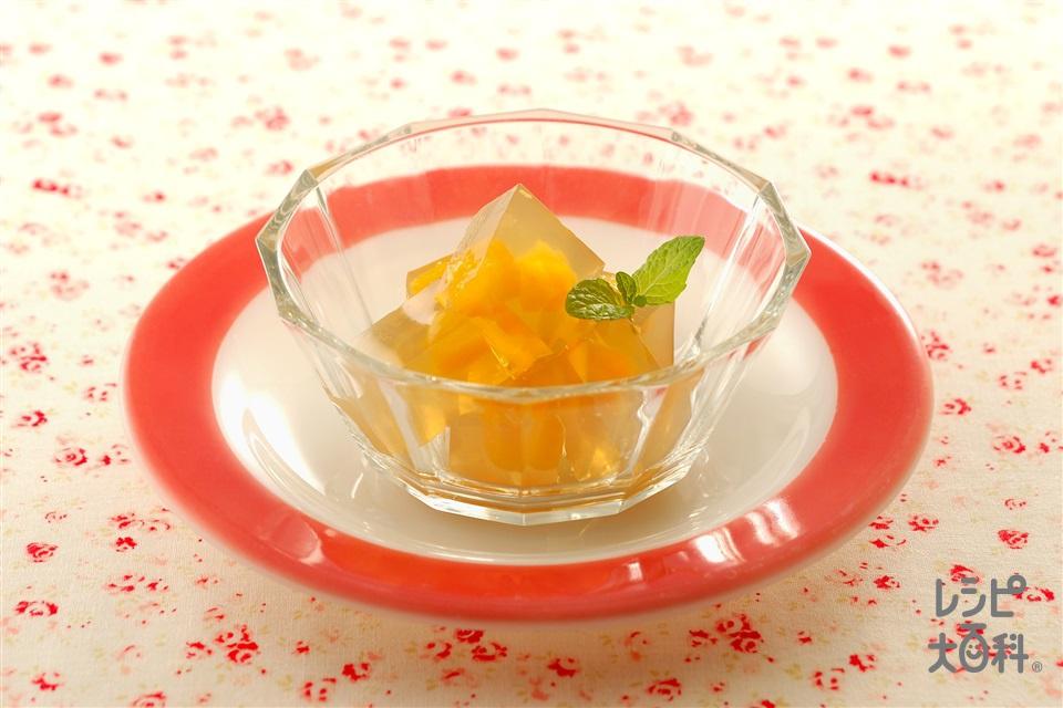 ミントティーゼリー(ミントティー+粉寒天を使ったレシピ)