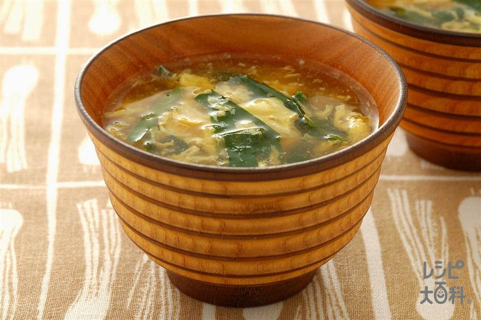 にら玉汁(にら+溶き卵を使ったレシピ)