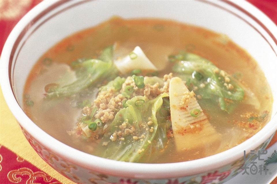 担々スープ(キャベツ+ゆでたけのこを使ったレシピ)