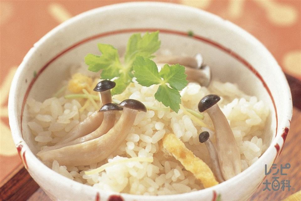 しめじの炊き込みご飯(米+しめじを使ったレシピ)