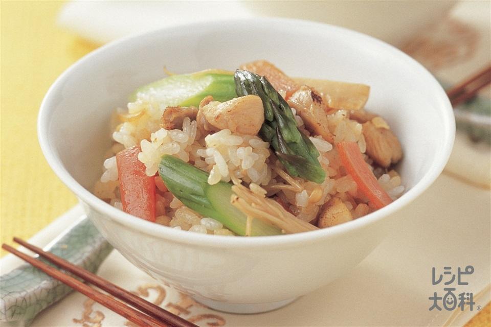 中華風混ぜご飯(ご飯+鶏もも肉を使ったレシピ)