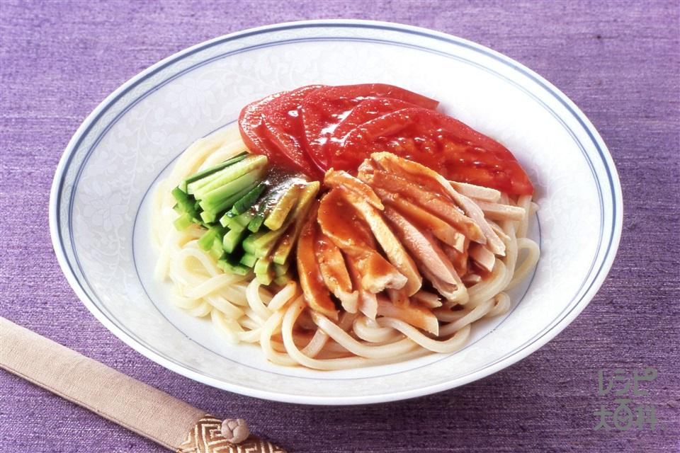 棒棒鶏うどん(生うどん+鶏もも肉を使ったレシピ)