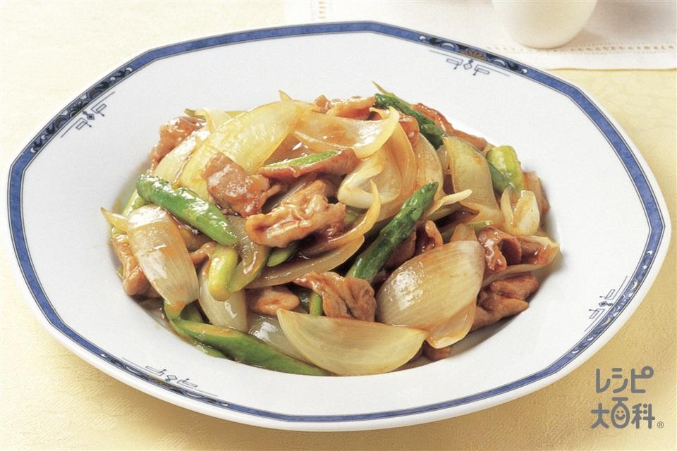 玉ねぎと豚肉のオイスターソース炒め(豚もも薄切り肉+玉ねぎを使ったレシピ)