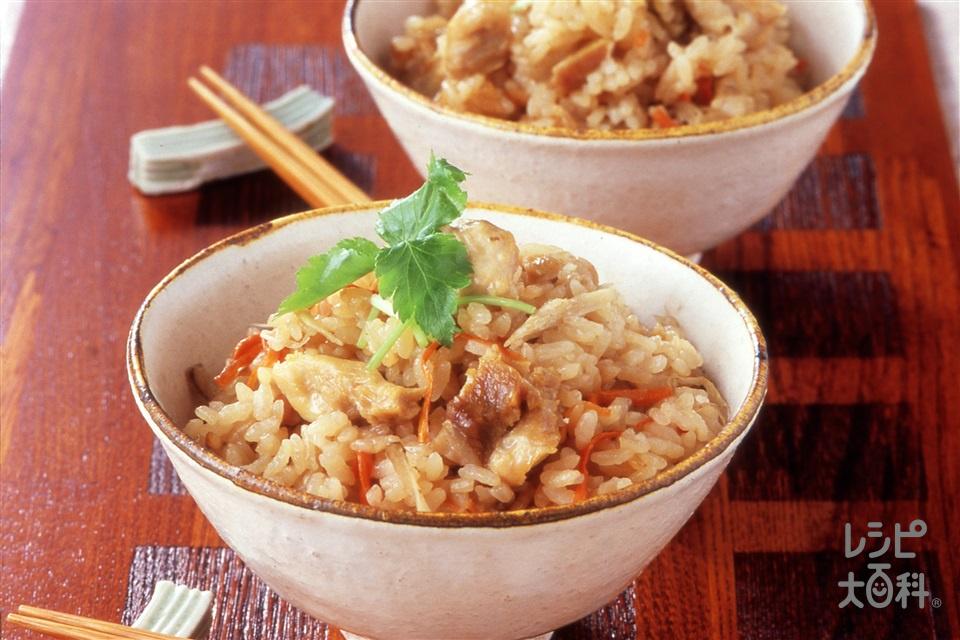 かしわめし(米+鶏もも肉を使ったレシピ)