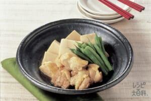 田舎風鶏と高野豆腐の煮もの
