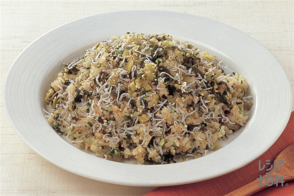 高菜とじゃこの焼きめし(ご飯+高菜漬けを使ったレシピ)