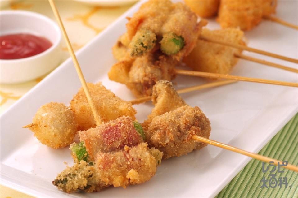 串揚げ(豚肉+玉ねぎを使ったレシピ)
