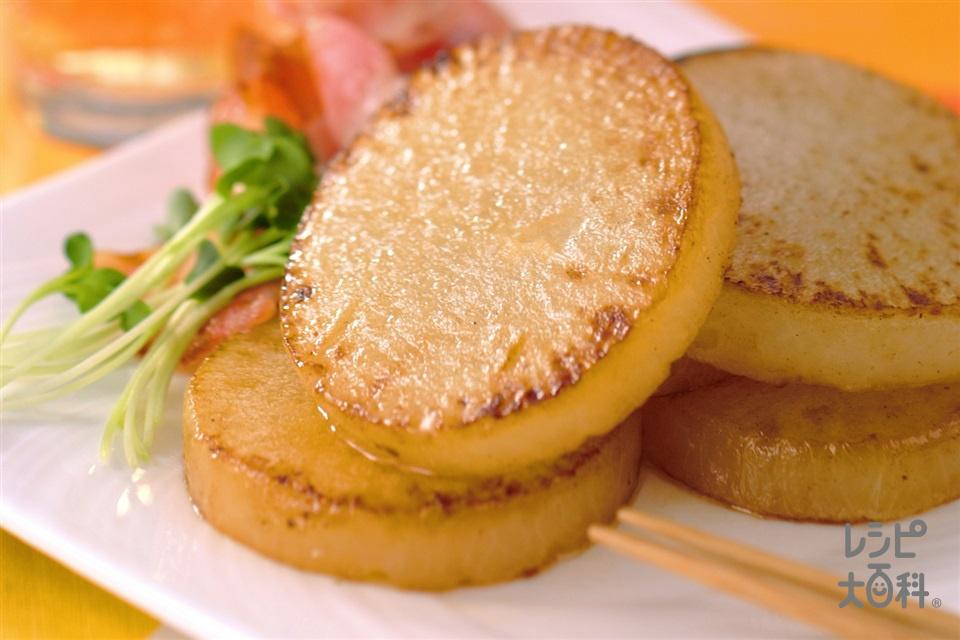 大根ステーキ(大根+ベーコンを使ったレシピ)