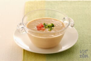 ヨーグルトガスパチョ(トマト+プレーンヨーグルトを使ったレシピ)