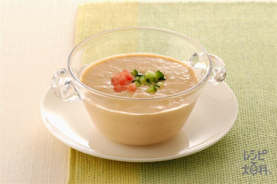 ヨーグルトガスパチョ(トマト+きゅうりを使ったレシピ)