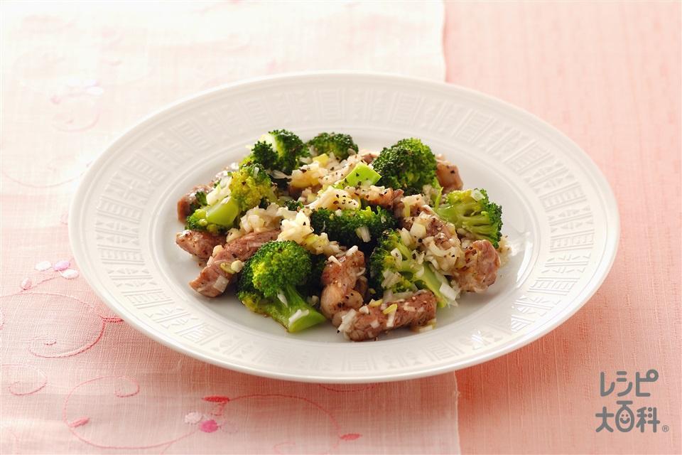 ラム肉の黒こしょう炒め(ラム薄切り肉+ブロッコリーを使ったレシピ)