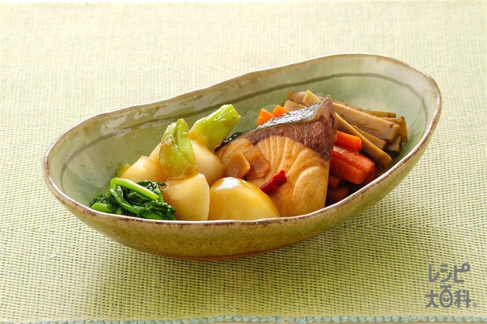 ぶりのしょうゆピリ煮(ぶり+かぶを使ったレシピ)