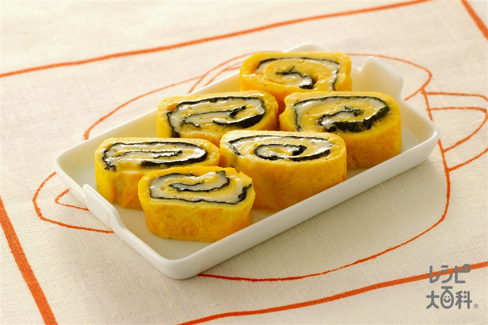のりとチーズのくるりん卵焼き