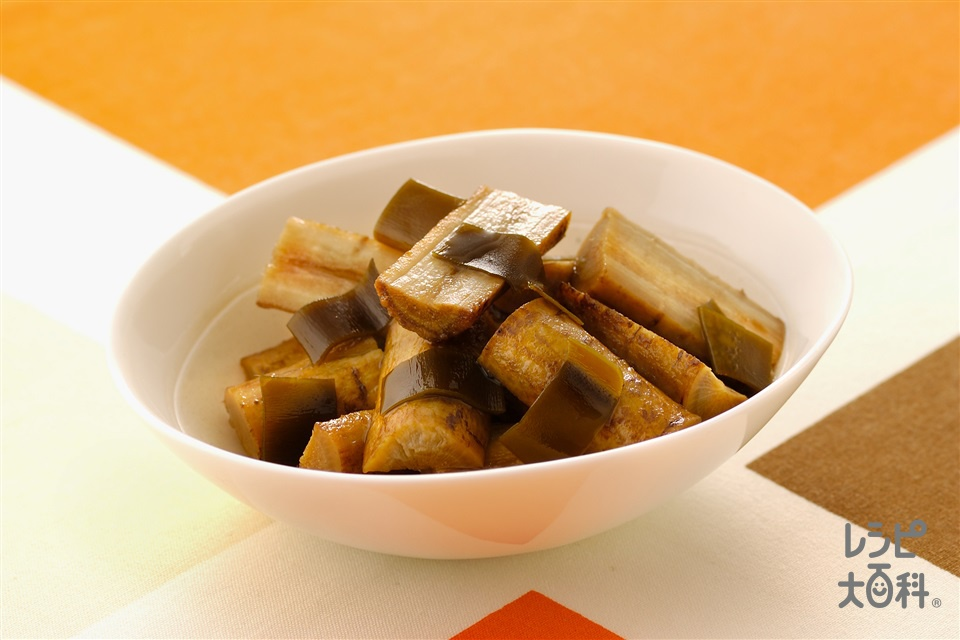 ごぼうと昆布の酢じょうゆ煮