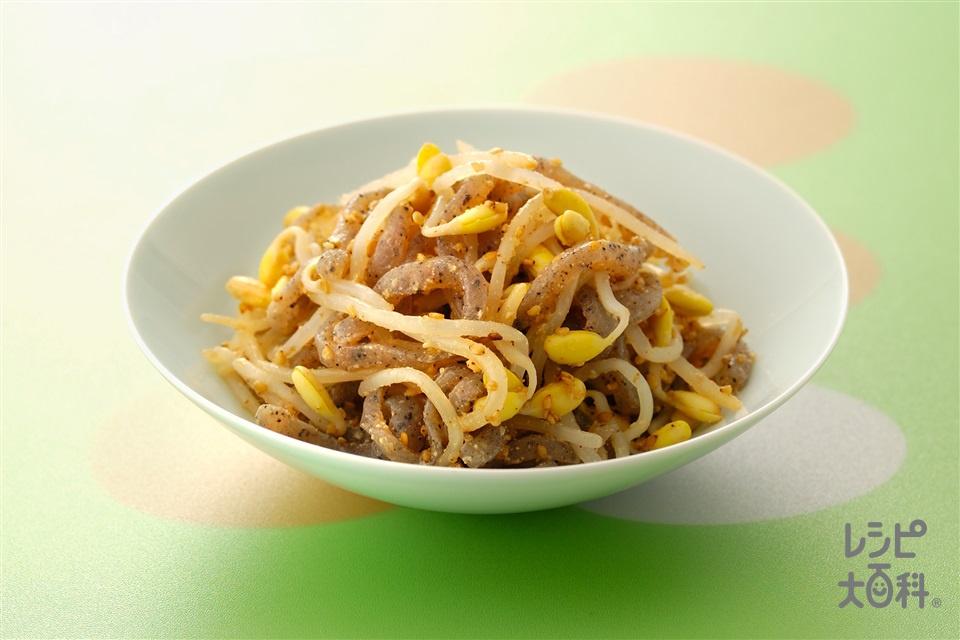 豆もやしとこんにゃくのナムル(大豆もやし+糸こんにゃくを使ったレシピ)