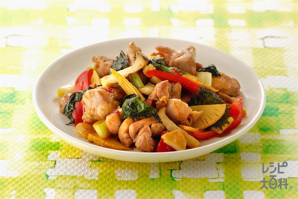 鶏肉の中華風青じそ炒め(鶏もも肉+しょうゆを使ったレシピ)