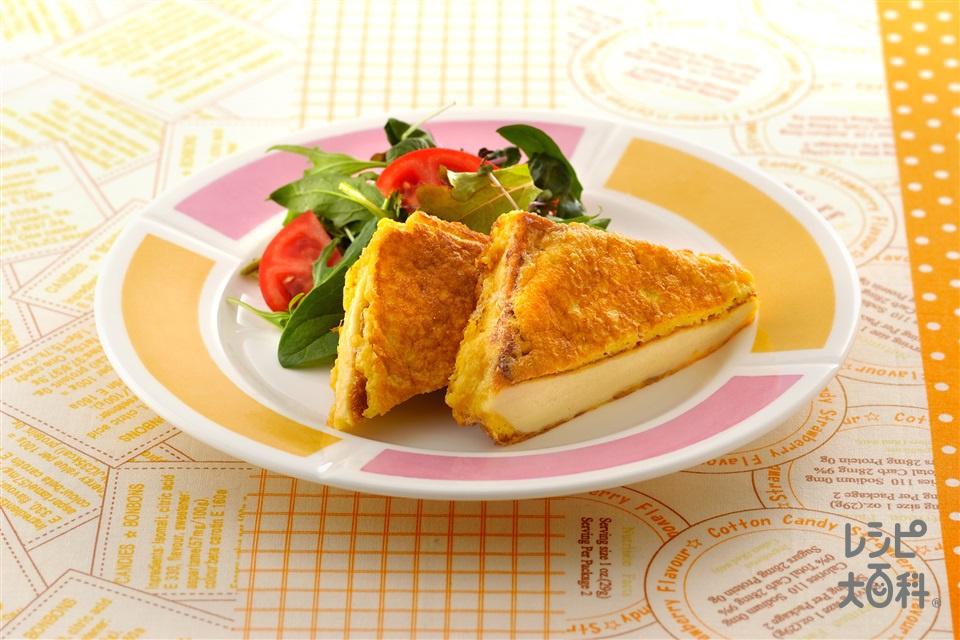 高野豆腐のミラノ風(卵+ベビーリーフを使ったレシピ)